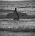 Black And White Surfer by Kelly Wade