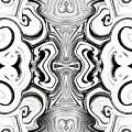Black And White Symmetry   by Samantha Joseph