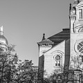 Black And White University Of Notre Dame  by John McGraw