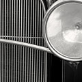 Black And White Vintage Car Abstract 1 - Natalie Kinnear Photogr by Natalie Kinnear