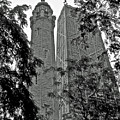 black and white Water Tower by Dale Chapel