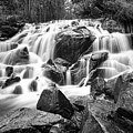 Black And White Waterfall In Lee Vining Canyon by Frank Lee Hawkins
