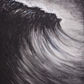 Black And White Wave Guam by Michelle Pier
