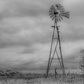 Black And White Windmill by Larry Pacey