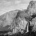 Black And Whitebridal Veil Falls Flowing Nicely At Yosemite National Park - Sierra Nevada  by Silvio Ligutti