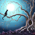 Black Cat In A Haunted Tree by Laura Iverson