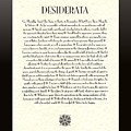 Black Border Sunburst Desiderata Poem by Desiderata Gallery