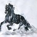 Black Horse by Sviatoslav Alexakhin