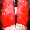 Black Make-up Brush Covered With Powder by Jorgo Photography - Wall Art Gallery