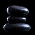 Black Meditation Stones by Michelle Himes