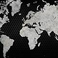Black Metal Industrial World Map by Douglas Pittman