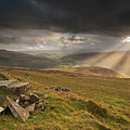 Black Mountains Light Rays by Nigel Forster