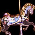 Black Neon Carousel Horse by Patty Vicknair