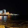 Black Night Bright Lights - Sliema Famous Waterfront by Georgia Mizuleva