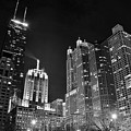Black Night In The Windy City by Frozen in Time Fine Art Photography