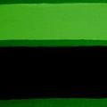 Black On Dark Green And Medium Green by Marsha Heiken