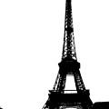 Black On White Eiffel by D Cochener