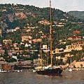 Black Sailboat At Villefranche II by Steven Sparks