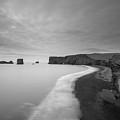 Black Sand Beach Bw by Michael Ver Sprill
