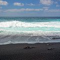 Black Sand Beach by Delphimages Photo Creations