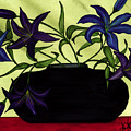 Black Vase With Lilies by Stephanie  Jolley