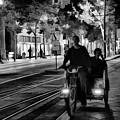 Black White Downtown Sj Trans by Chuck Kuhn
