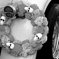 Black White Skulls Classic Car  by Chuck Kuhn