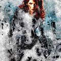 Black Widow Scarlett Johansson by Love Art