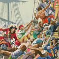 Blackbeard And His Pirates Attack by Peter Jackson