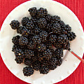 Blackberries On A Plate by Tatiana Travelways