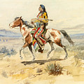 Blackfoot Indian. A Crow Scout by Charles Marion Russell