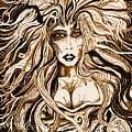 Blackmedusa-sepia by Steve Farr