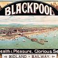 Blackpool, England - Retro Travel Advertising Poster - Seaside Resort - Vintage Poster by Studio Grafiikka