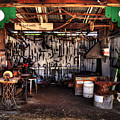 Blacksmith Shop By Kaye Menner by Kaye Menner