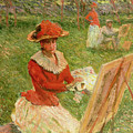 Blanche Hoschede Painting by Claude Monet
