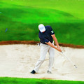 Blasting Out Of Sand Trap by Dan Friend