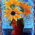 Blazing Sunflowers by Tami Booher