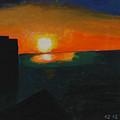 Blazing Sunset by Harris Gulko