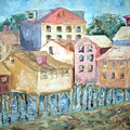 Bldgs In Boothbay Harbor by Joseph Sandora Jr