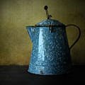 Blue Enamelware Coffee Pot by David and Carol Kelly