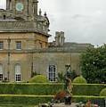 Blenheim Palace Gardens With Water Fountain by Bruce Gourley