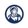 Blessed Virgin Mary Circle Retro by Aloysius Patrimonio