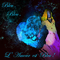 Bleu Bleu L Amour Est Bleu by Miki De Goodaboom