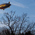 Blimp Over Wingfoot by Tim Fitzwater