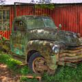 Blind In One Eye 1947 Chevy Flatbed Truck Art by Reid Callaway