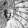 Bliss Of Being - Black And White Buddha Art by Christopher Beikmann