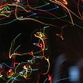 Blizzard Of Colorful Lights. Dancing Lights Series by Ausra Huntington nee Paulauskaite