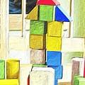 Blocks At Night by Carla G Art