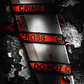 Bloody Knife Wrapped In Red Crime Scene Ribbon by Jorgo Photography - Wall Art Gallery