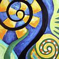 Blooming Aka Chris' Snail by Rachel Cotton